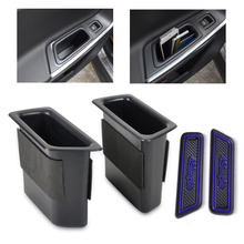 beler 2pcs Black Rear Door Container Armrest storage box For VOLVO XC60 2008 2009 2010 2011 2012 2013 2014 2015 High Quality