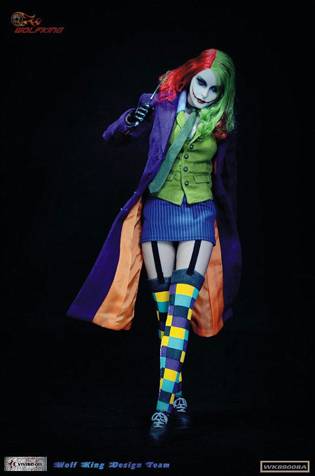 Hot Toys 1/6 Scale Female Joker Action Figure Model Toys For Children Gifts Collections