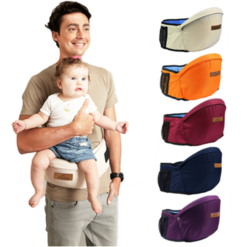 Baby Carrier Waist Stool Baby Sling Hold Waist Belt Cotton Kids Infant Hip Seat Side Carry Baby Walkers Bag Front Holder Wrap