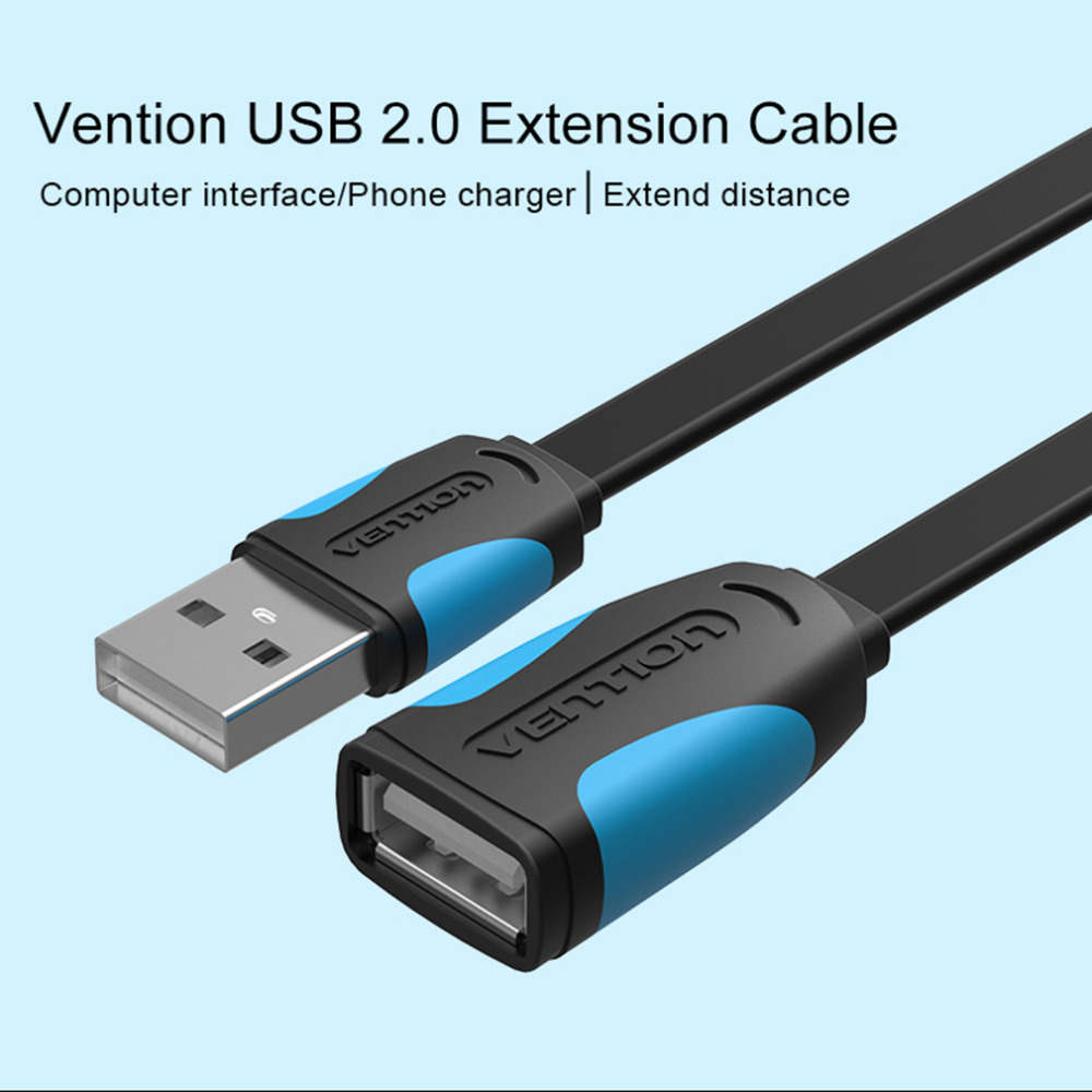 vention usb 2 0 male to female usb cable 1m 2m 3m 5m. Black Bedroom Furniture Sets. Home Design Ideas