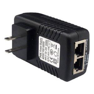Image 3 - 2 sztuk wtryskiwacz POE 48V 0.5A POE mocy Adapter wtryskiwacza dla wideo IP kamera monitorująca 802.3af ue/US/AU Plug