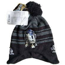 Вязаная шапка с изображением робота-штурмовика Дарта Вейдера R2D2, модная маска с героями мультфильмов, шапочки для взрослых и детей, зимняя теплая шапка с помпоном