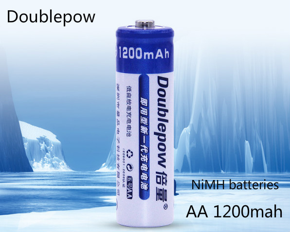Doublrpow New <font><b>1.2</b></font> V <font><b>1200</b></font> mah AA rechargeable batteries, AA batteries, remote control, mouse, toys AA nickel cadmium battery image