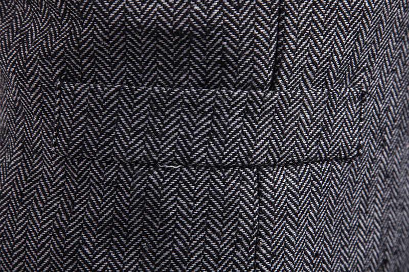 النمط البريطاني واحدة الصدر الصوفية دعوى سترة الرجال 2018 العلامة التجارية الجديدة سليم صالح أكمام صدرية الرجال سترة مهذب جيليه