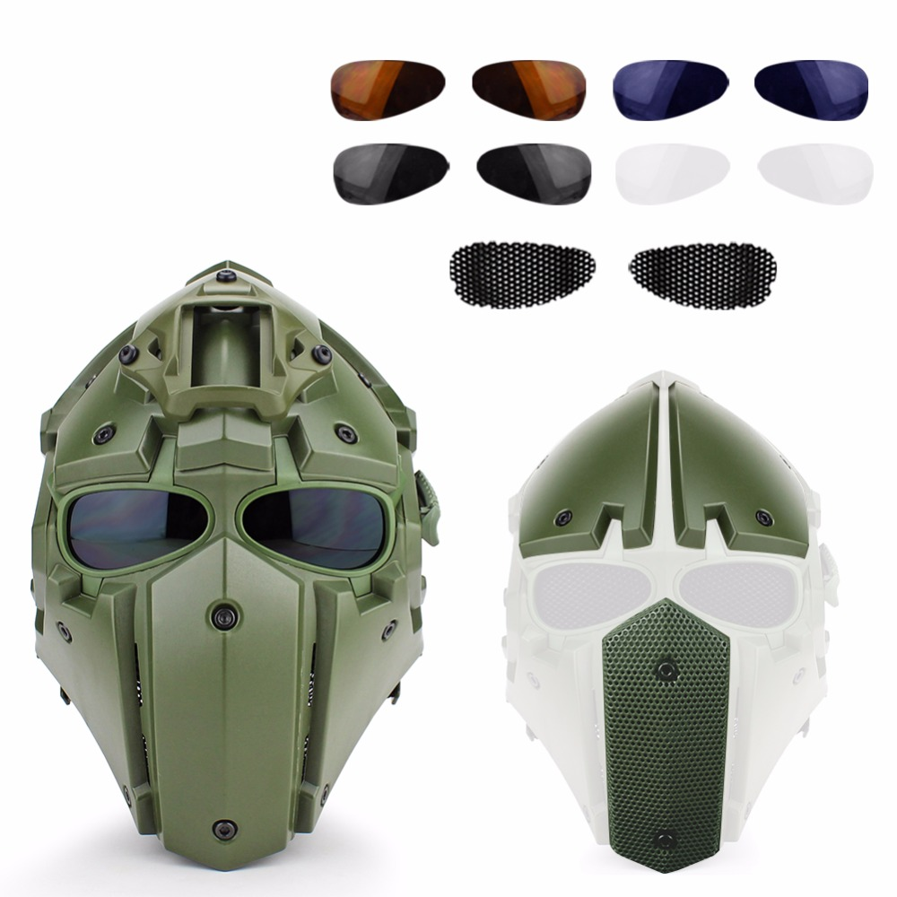 Tactical Military CS Sport Airsoft Hunting Paintball Military Helmet Mask Tactical Helmet with Mask lightweight hunting tactical helmet airsoft gear crashworthy head protector helmets for cs paintball game camping