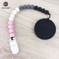 Pacifier Clip The Big Cookie Teether Oreo Biscuit Teether Toy Food Grade Teether BPA Free Safe