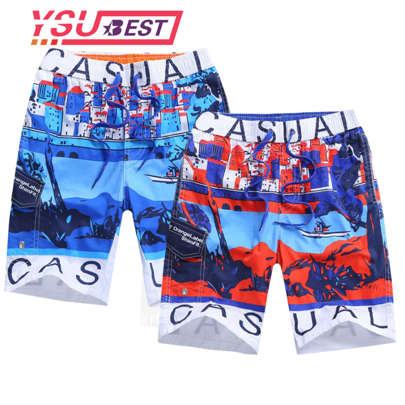 2018 Brand Quick Drying Board Shorts Heart Print Trunks Mens Beach Short Bermuda Masculinade Marca Homme Shorts Drop Shipping Year-End Bargain Sale Men's Clothing