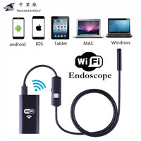 HD 720P 8mm Lens WIFI Endoscope Camera 5M 3 5M 2M 1M Snake USB IOS Android