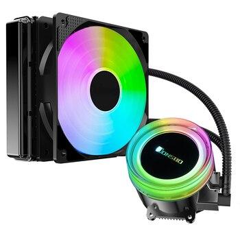 Jonsbo TW2-120 (RGB colorful streamer cold head / synchronous colorful 12CM fan / temperature control / multi-platform)