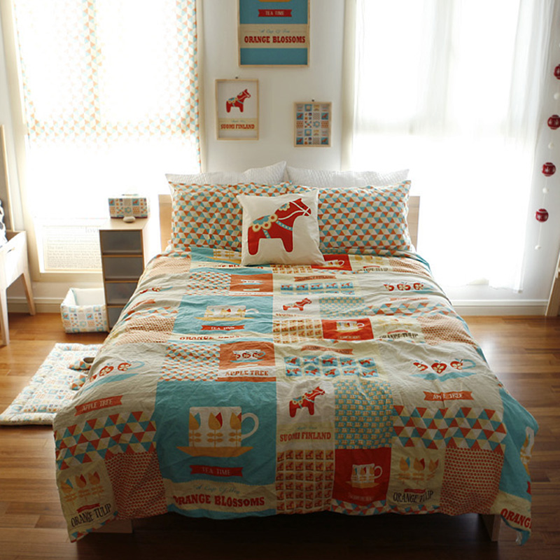 Fluid Cotton Curtain Fabric Bed Sheets Table Cloth Big Rocking Horse  Handmade DIY Patchwork Cloth 1.4 Meters X 0.85 Meter In Fabric From Home U0026  Garden On ...