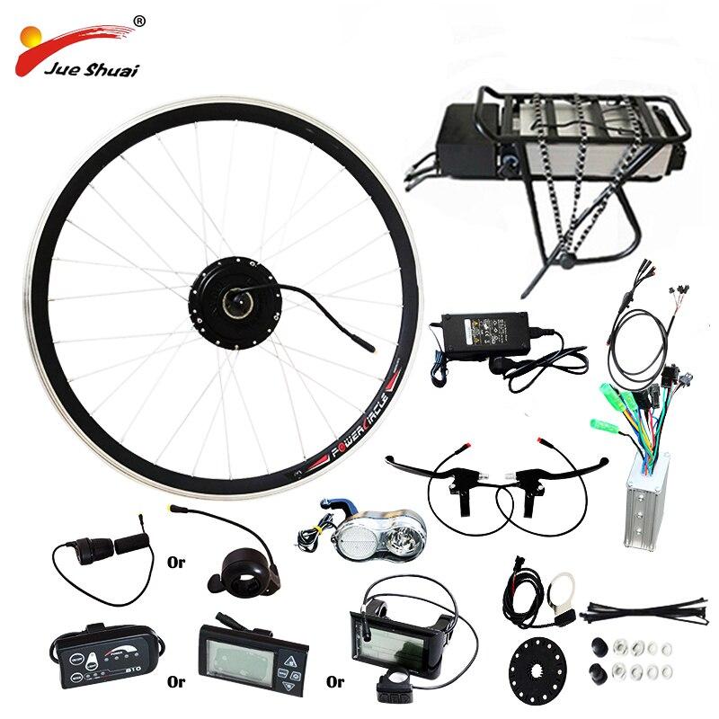 250 W/350 W/500 W 36 V-48 V Porte-Bagages Arrière Batterie Vélo Électrique Kits Électrique vélo Kit de Conversion Pour 20 26 700C 28 VTT Vélo