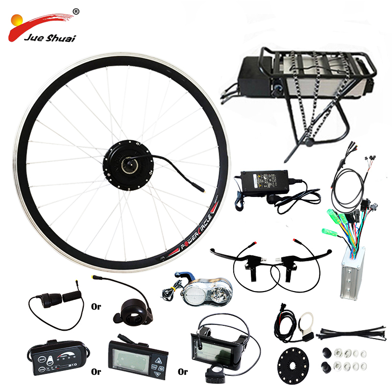 250W 350W 500W 36V 48V Rear Carrier Battery Electric Bicycle Kits Electric Bicycle Conversion Kit For