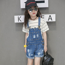 Teen Girls Overalls Cowboy Breastplate 2020 Teenage Pants Kids dungarees Denim overall Clothes for 2 3 4 5 6 8 10 12 14 Years