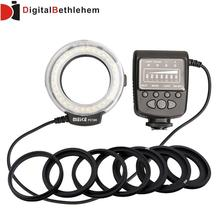 Big discount Meike FC100 Manual LED Macro Ring Flash Light with 7 Adapter Ring for Canon Nikon Olympus Pentax Digital DSLR Camera
