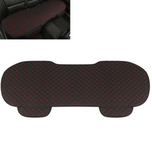 1 PC Linen Rear Seat Cover Cushion Black and Red Vehicles Interior Accessories Four Season Universal