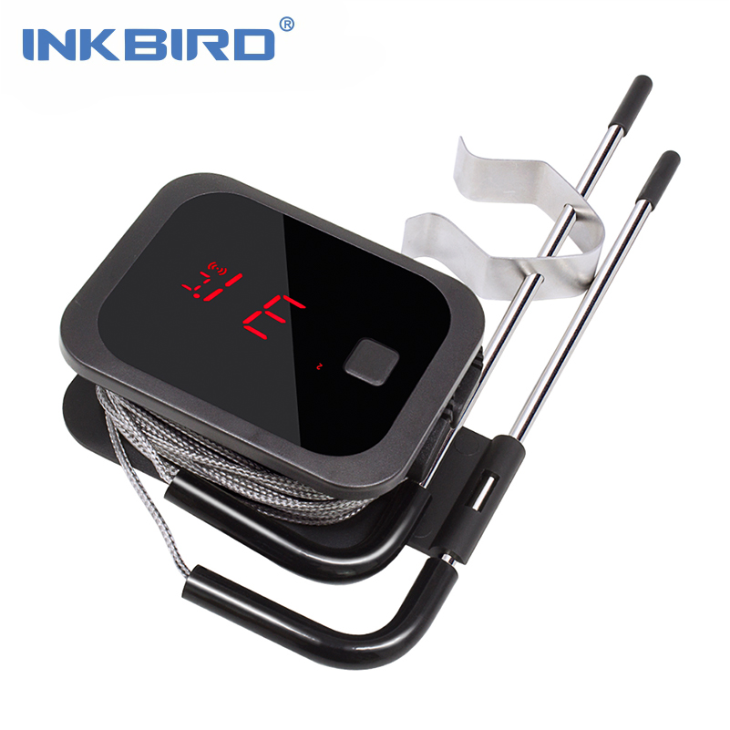 Inkbird Food Cooking Bluetooth Wireless BBQ Thermometer IBT-2X With Double Probes and Timer For Oven Meat Grill free app control inkbird remote wireless home use rf thermometer irf 2s 1000 feet for cooking bbq grill oven smoker with three food grade probes