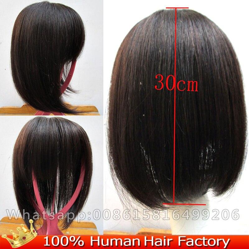 13 14 cm human echt haar toupetje clip in hair extensions 12 top