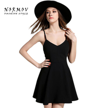 NORMOV Party Dress Women Sexy Angel Wings Backless Black White Feather Summer Vestidos Mujer Pleated Dresses Robe Femme Women