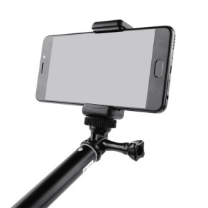 Image 3 - Universal Monopod Mobile Phone Clip Holder Bracket Tripod Adapter Mount Stand for iPhone Samsung Xiao mi Phone Clamp Accessories