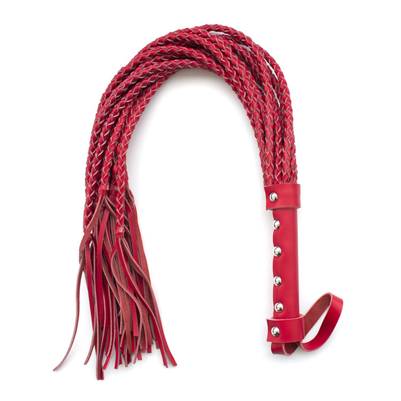 2017 new adult sex games Genuine Leather sex whip fetish red length 50cm spanking whip sex toys for couples erotic toys maryxiong 69cm pu leather fetish bondage sex whip flogger bdsm sex toy for couples spanking paddle sexy policy knout adult games