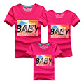 1 Psc Family Matching Outfits 2016 Baby Print T-shirts Family Matches Father Son Mother Girl Shirt Clothes Ropa Mama E Hija