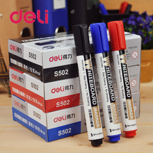 Deli 1PCS Black Red Blue 2.0mm Dry Erase Markers Chancery Refilling Add Oil Ink Whiteboard Marker Pens School & Office Supplies whiteboard erasers dry erase marker white board cleaner wisser wipes school office accessories supplies