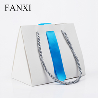 FANXI Free Shipping Custom Foldable White Paper Shopping Bags For Gift And Boxes Packaging Jewelry Packing