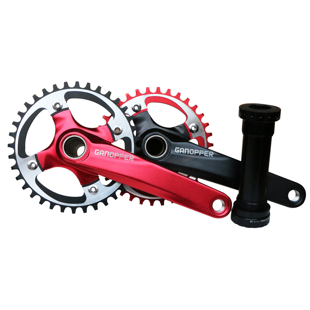 GANOPPER 36T Narrow Wide Single Chainring 104mm BCD Fit for Single Speed Road Bike MTB Crankset Red