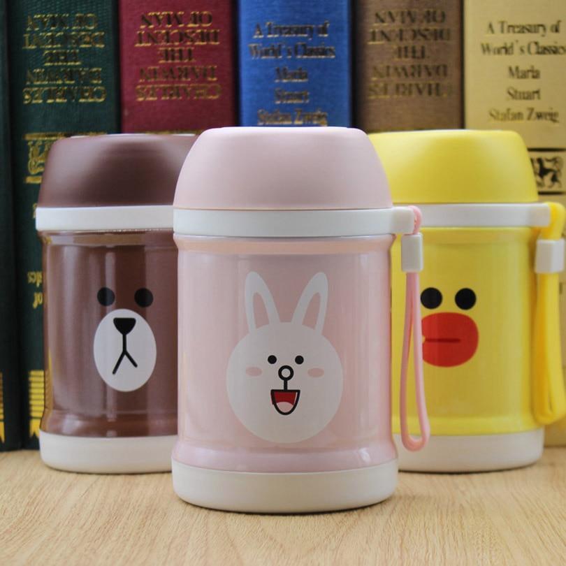 Ladies Braised Beaker Children Cartoon Boring Pot Portable Soup Pot 400ML Vacuum Flasks Belly Cup Insulation Water Bottle