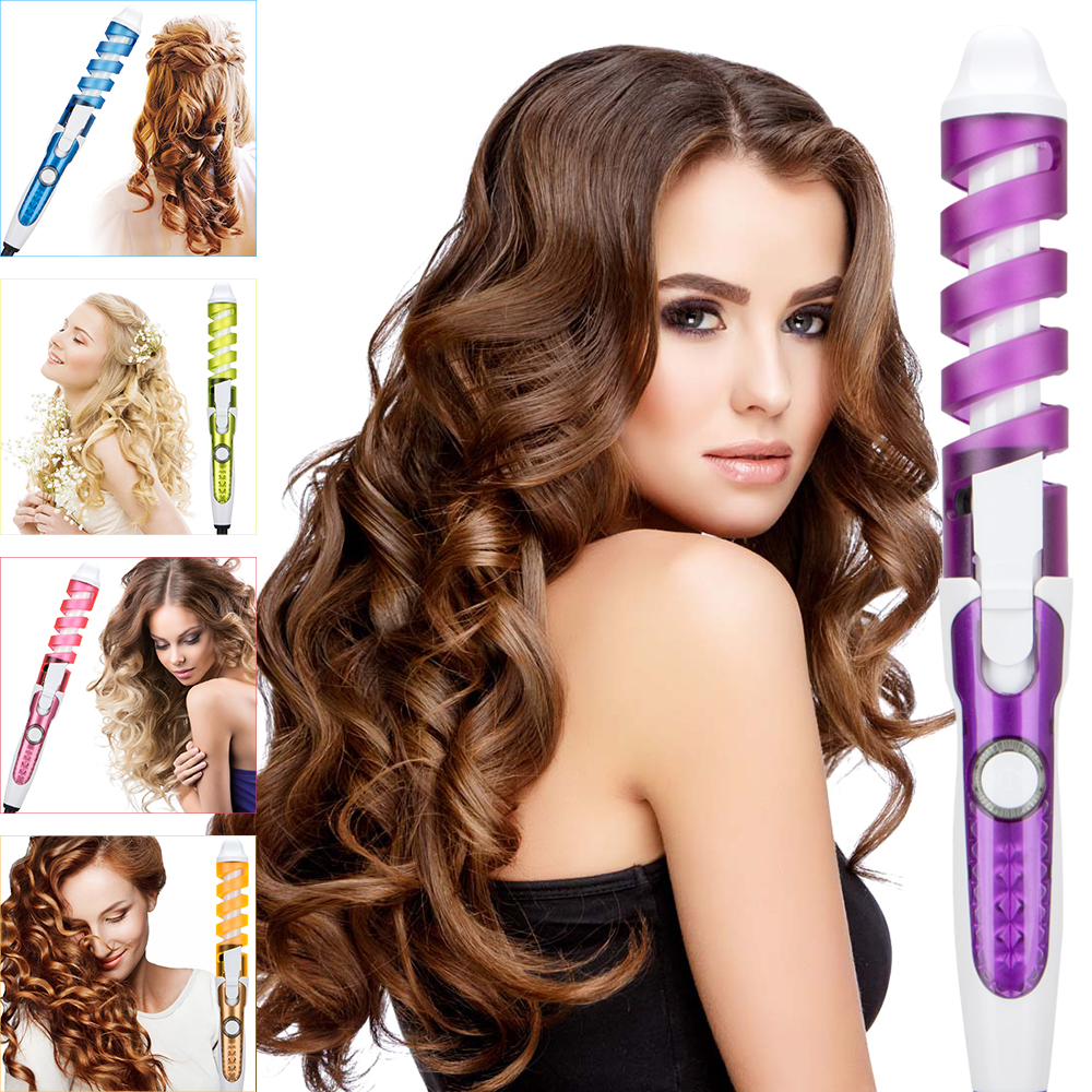 2018 Professional Hair Curler Magic Spiral Curling Iron Fast Heating Curling Wand Electric Hair Styler Pro Styling Tool ckeyin 25mm curling iron lcd screen professional ceramic hair curler curling wand fast heating salon hair waver styling tool 45