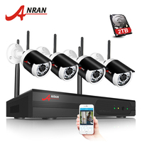 ANRAN Plug And Play 4CH CCTV System WIFI NVR Kit P2P 1080P HD 36IR IP Camera