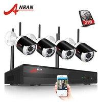 ANRAN Plug And Play 4CH CCTV System WIFI NVR Kit P2P 1080P HD 36IR IP Camera