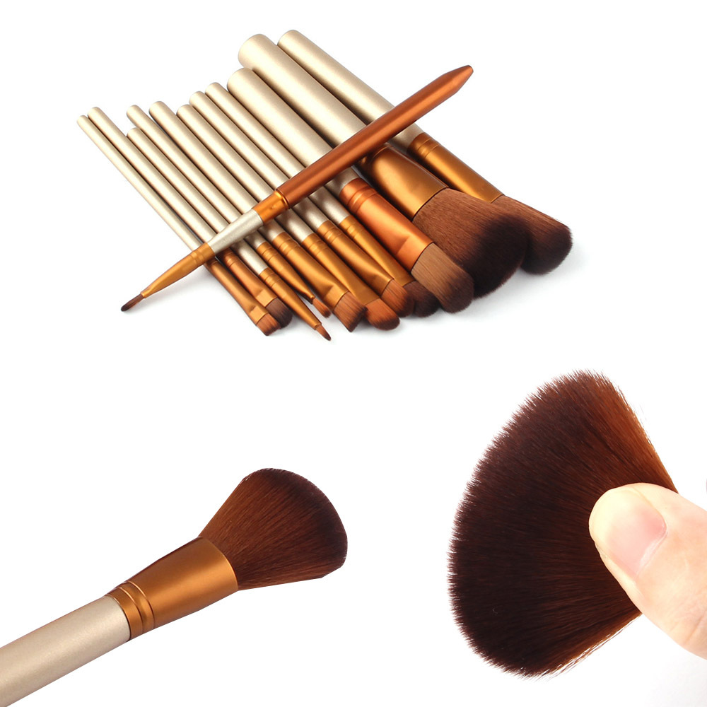 12 Pcs Makeup Brushes Set Kabuki Professional Make Up Kit Face Contour Foundation Powder Blusher Cosmetic Beauty Tools professional makeup brush flat top brush foundation powder beauty cosmetic make up brushes tool wooden kabuki