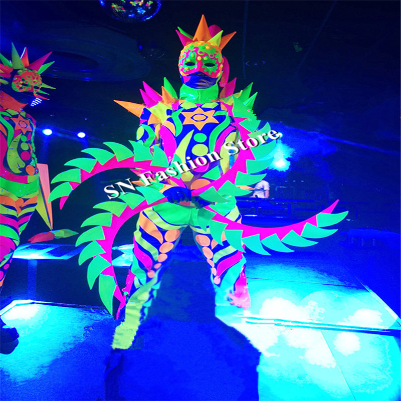 CC83 Ballroom dance costumes dj singer stage show wears cosplay catwalk clothe dress suit mask party bar performance led supply