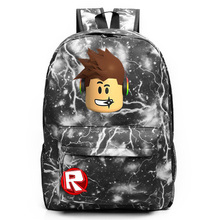 2018 New Cartoon Galaxy Roblox Games Letter Boy Girl School bag Women Bagpack Teenagers Schoolbags Canvas Men Student Backpacks