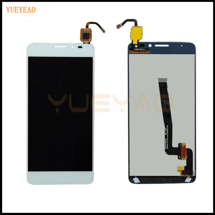 YUEYAO High Quality For Alcatel One Touch Idol X+ OT6043 6043 6043D LCD Display Screen With Touch Screen Digitizer Assembly  white black 1 pcs for alcatel one touch idol x 6043 ot6043 lcd display with touch screen digitizer assembly free shipping