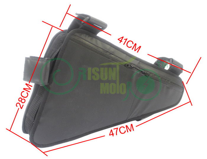Ebike Outdoor Bags Lithium Battery Storage Triangle Bag Bicycle Pack Down Tube Frame Oxford Fabric Cycling Mountain Bike Pouch