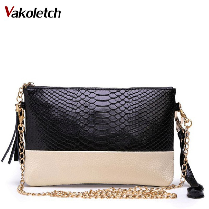 Free shipping Genuine leather Tassel handbags shoulder bags messenger bag Day clutch Chain bag small bag women clutches MZ70-56 women genuine leather character embossed day clutches wristlet long wallets chains hand bag female shoulder clutch crossbody bag