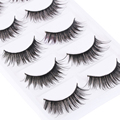 5 Pairs Black Handmade Natural Thick False Eyelashes Long Eye Lashes Makeup Extension Tools