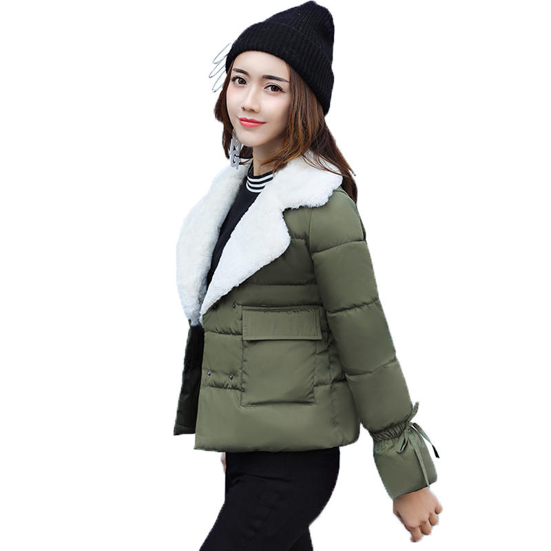 Plus Size 3XL Winter Jacket Women Short Cotton Parka Manteau Femme Hiver Padded Warm Parkas Winter Coat Female Outerwear C3774 women s winter jacket hooded thick warm parkas cartton solid high quality cotton coat manteau femme hiver plus size l 4xl dj29