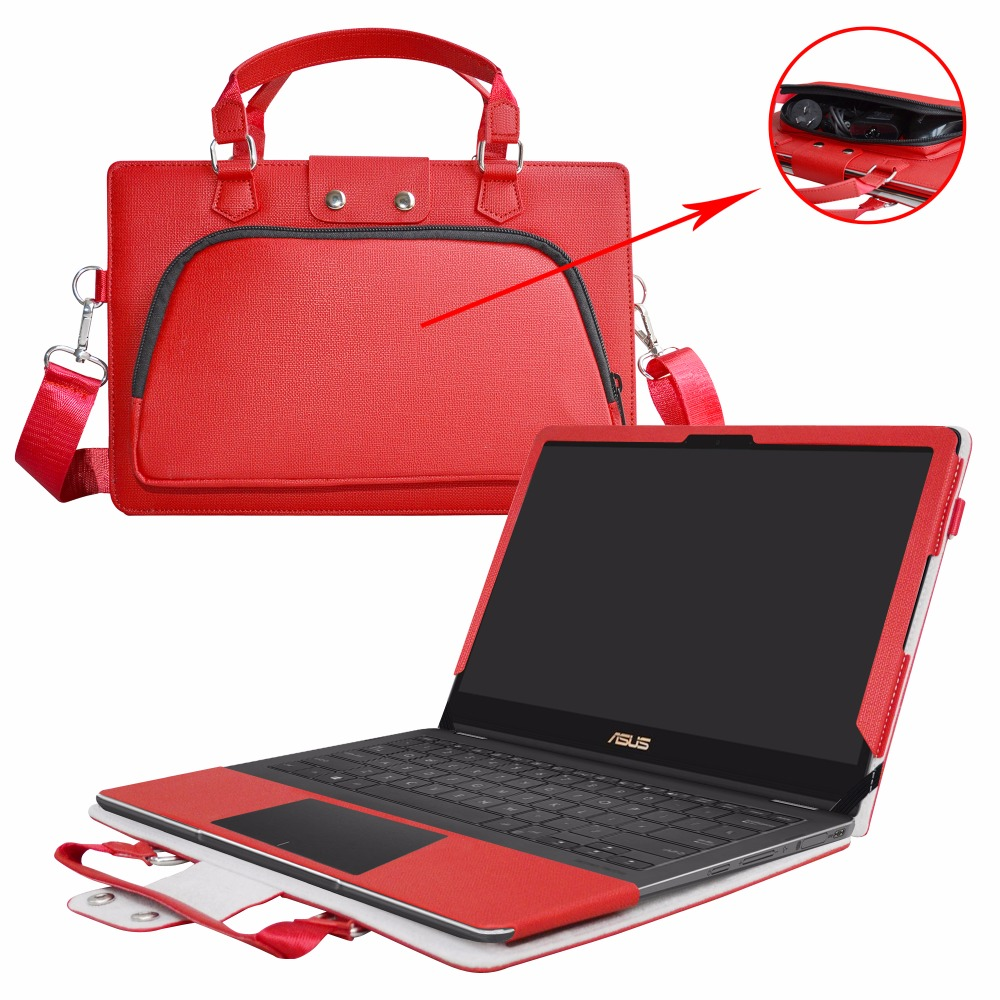 Accurately Designed Protective PU Leather Cover + Portable Carrying Bag For 13.3 Asus Q3 ...