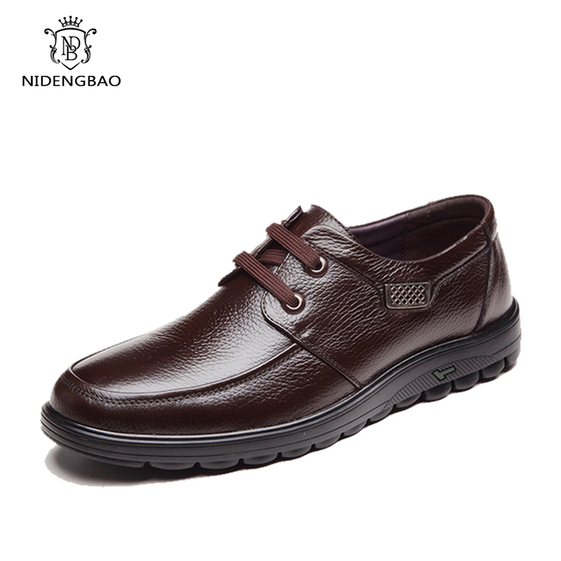 Genuine Leather Business Men Shoes Elegant Comfortable Office Men Flat Mens Casual Shoes Male Classical Chaussure