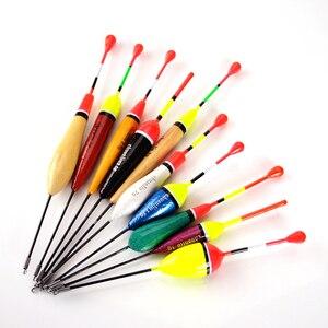 Image 3 - 10 PCS/charge hohe qualität gemischt größe farbe eis angeln schwimm float boje tintenfisch tackle zubehör fisch float
