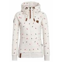 New 2017 Fashion Hoodies Women Button Hip Hop Brand Print Hooded Zipper Hoodie Zip Up Sweatshirt