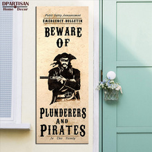 DPARTISAN Steampunk Art Print Wall Poster Beware of plunderers and pirates Wall picture print for home decor wall painting SP-45