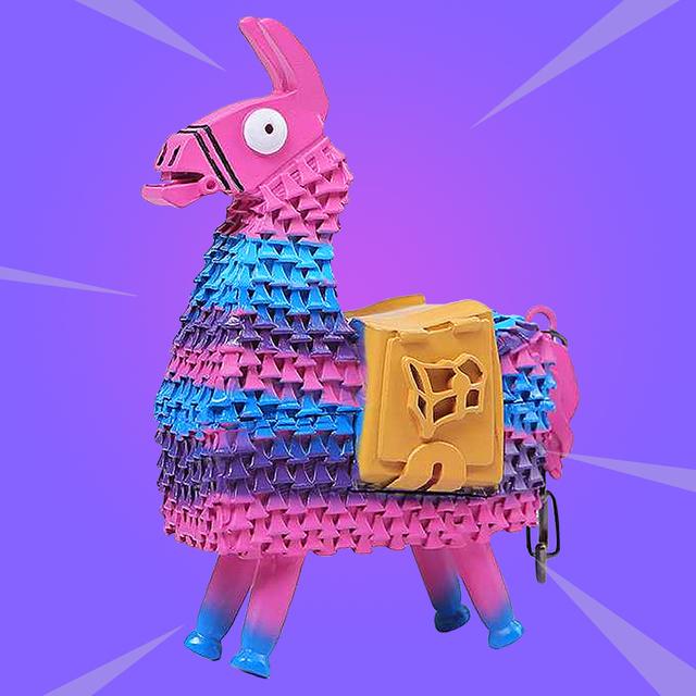 FORTNIGHT Loot Llama Model Keychain Alpaca Toys Battle Royale Metal Toy Kids Christmas Gifts
