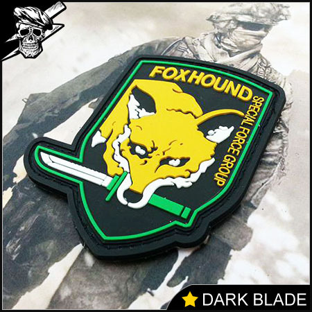 Military PVC Velcro Patches Metal Gear Solid (MGS) Snake FoxHound Special  Forces For Clothes Jackets Backpacks Hats PVC Chapter ef8725cf861