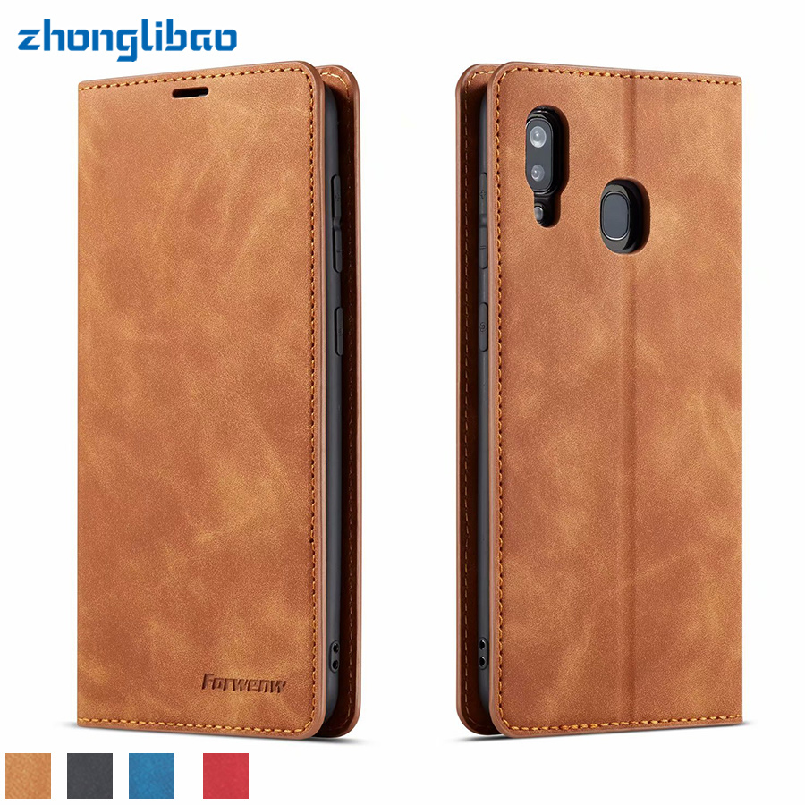 Flip Leather Case for Samsung Galaxy A50 A70 A60 A40 A30 A20 A10 A20E A80 2019 Hoesje Luxury Card Holder Wallet Magnetic Cover
