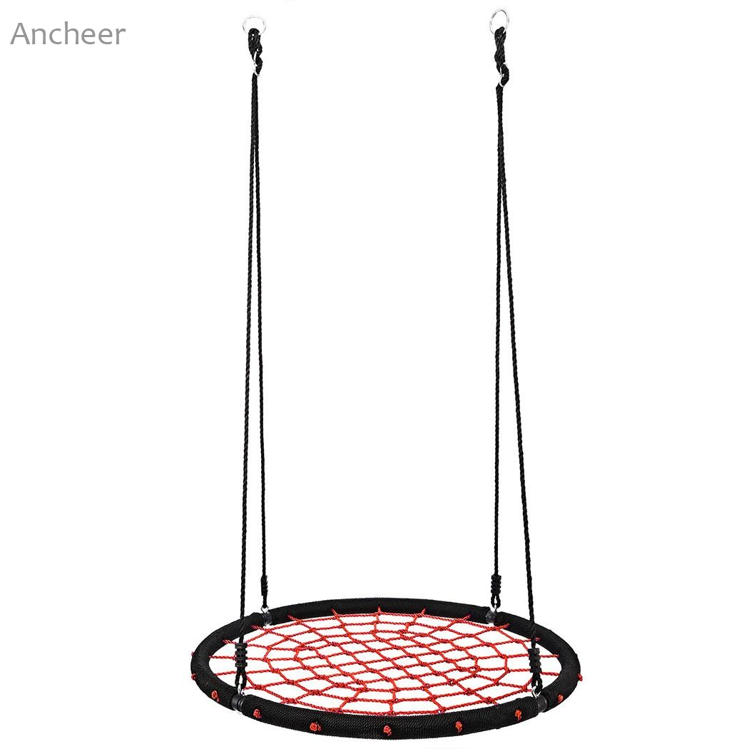 Ancheer New Outdoor Comfort Durability Hanging Chair Large Hammock Chair Net Round Swing Kit chair outdoor garden hammock net indoor hanging chair