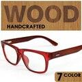 New Korean Style Fashion Men/Women Clear Lens Glasses Vintage Glasses Wooden Frame Goggles Eyeglass